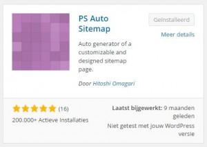 PS Auto Sitemap Plugin toevoegen