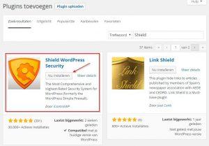 Shield WordPress Security Plugin zoeken en installeren