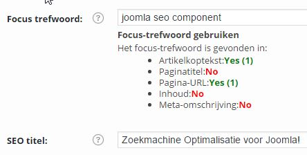 Stap 1 titel en url in WordPress SEO