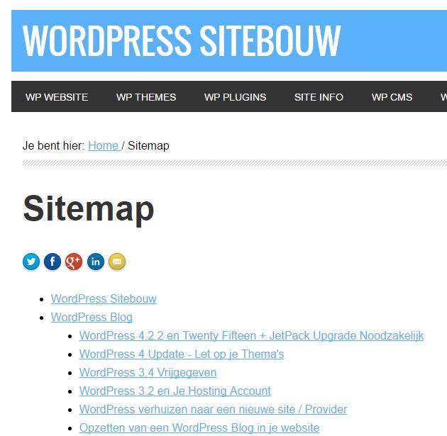 WP Sitebouw Basis Sitemap Opmaak