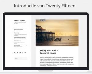 WordPress 4.1 Nieuw thema Twenty Fifteen
