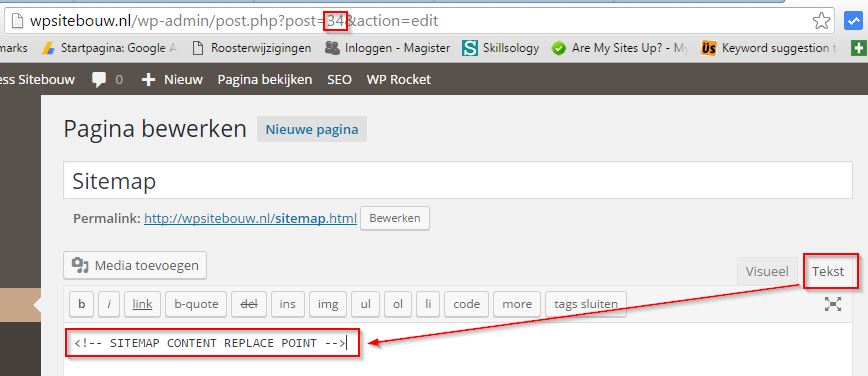 WordPress Sitemap Pagina Maken