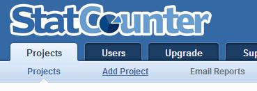 statcounter add project
