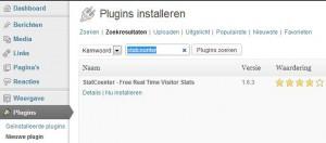 statcounter plugin installeren