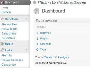 Het Nieuwe WordPress 3.2 Dashboard