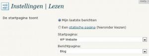 WordPress Lees Instellingen