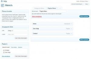 WordPress Pagina Menu aanmaken