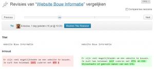 WordPress Revisies bekijken