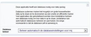 Laat Installatron de database beheren
